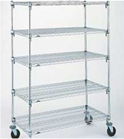 Stainless Steel Shelving with Wheels