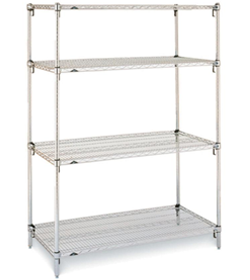 Stainless Steel Epoxy Quoted Shelving with Legs