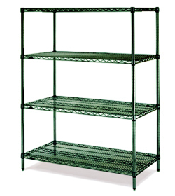 Green Epoxy Quoted Shelving